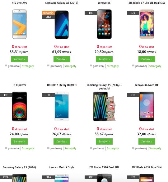Выбор телефонов отличный (но опять же помним, что контракты с дорогими моделями получаются очень невыгодными).